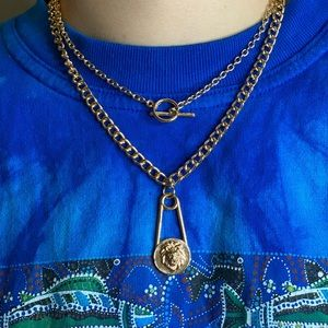 Missguided Lion layered necklace